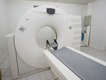 MRI Scanner machine in a hospital Stock Image