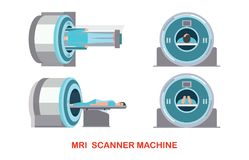 MRI scanner machine technology and diagnostics Stock Photos