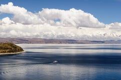 Ámérica do Sul, lago Titicaca, Bolívia, paisagem de Isla del Sol Fotografia de Stock