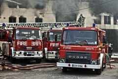 Mriehel Fire Stock Images