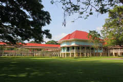 Mrigadayavan Palace. The palace was commissioned by King Vajiravudh to serve as a holiday villa. The king drafted the designs for the villa, which consists of Royalty Free Stock Images