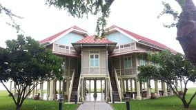 Mrigadayavan Palace. Building of teak Stock Photo