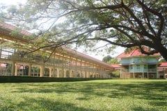 Mrikhathayawan宫殿,华欣,泰国步行桥梁  免版税库存图片