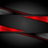 Mörk design för Tech med perforerad metalltextur Arkivbild