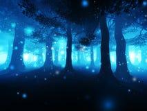mörk skog Fotografering för Bildbyråer