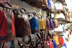 Märkes- handväskor Royaltyfria Foton