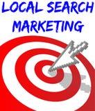 Márketing apuntado de la búsqueda local del hallazgo Imagen de archivo libre de regalías