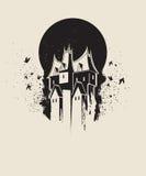 Mörkt gotiskt hus Arkivfoton