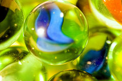 Mármoles de cristal Foto de archivo