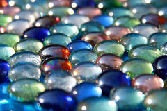 Mármores de vidro Fotografia de Stock Royalty Free