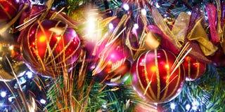 Mroźne dekoracje. Boże Narodzenie ornamenty. Zdjęcie Royalty Free