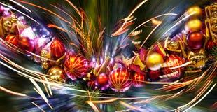 Mroźne dekoracje. Boże Narodzenie ornamenty. Obrazy Stock