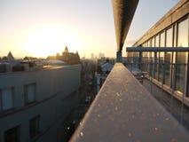 Mroźny balkon z widokiem obraz royalty free