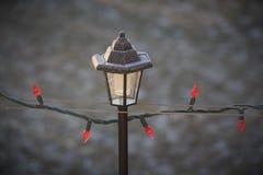 Mroźny Bożenarodzeniowy lampion Zdjęcia Royalty Free