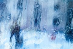 mroźny deseniowy okno tła naturalny piękny kiedy było tła można użyć tematu ilustracyjny zimy Zakończenie Zdjęcie Royalty Free