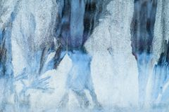 mroźny deseniowy okno tła naturalny piękny kiedy było tła można użyć tematu ilustracyjny zimy Zakończenie Obrazy Stock