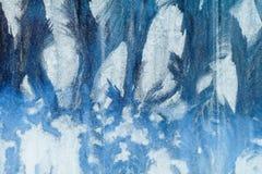mroźny deseniowy okno tła naturalny piękny kiedy było tła można użyć tematu ilustracyjny zimy Zakończenie Zdjęcia Royalty Free