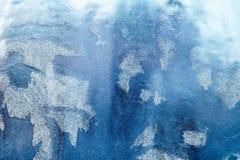 mroźny deseniowy okno tła naturalny piękny kiedy było tła można użyć tematu ilustracyjny zimy Zakończenie Fotografia Royalty Free