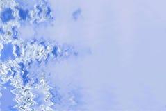 Mroźny szklany elegancki niebieskiego nieba tło Royalty Ilustracja