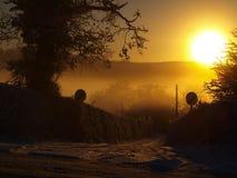 mroźny wschód słońca obrazy stock