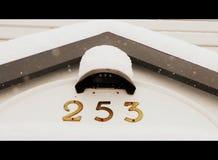 Mroźny domowy adres fotografia stock