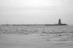 Mroźny Jeziorny Erie Obrazy Stock