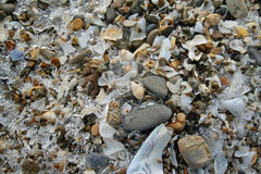 Mroźny Jeziorny Erie brzeg Obrazy Royalty Free