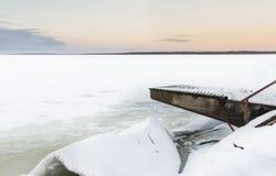 Mroźny jezioro krajobraz Obraz Stock