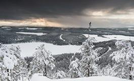 Mroźny krajobraz od Finlandia Obrazy Royalty Free