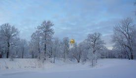 Mroźny ranek w Tsarskoye Selo Obrazy Royalty Free