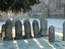 Mroźny ranku cmentarz Obraz Royalty Free