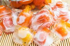 mrożone pomidory Zdjęcia Stock
