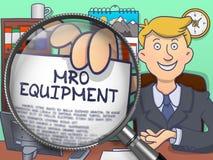Mro-utrustning till och med förstoringsglaset Blå sömlös förtjäna bakgrund för design och garnering Arkivbilder