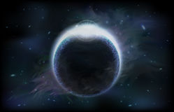 mroczna planeta Zdjęcie Stock