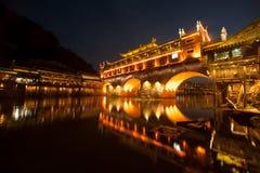 Mroczna scena Fenghuang antyczny miasto Zdjęcie Royalty Free
