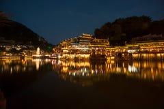 Mroczna scena Fenghuang antyczny miasto Fotografia Royalty Free