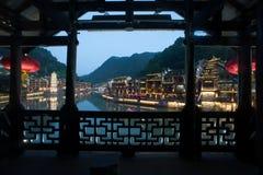 Mroczna scena Fenghuang antyczny miasto Obrazy Royalty Free