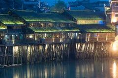Mroczna scena Fenghuang antyczny miasto Obraz Royalty Free