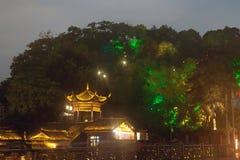 Mroczna sceneria Phoenix miasteczko (Fenghuang antyczny miasto) Zdjęcia Stock