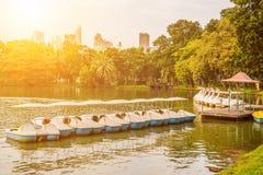 Mroczna zmierzch scena Bangkok przy półmrokiem Fotografia Royalty Free
