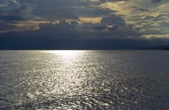 mroczny adriatic niebem morskim Zdjęcie Royalty Free