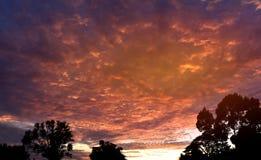 Mroczny nieba tło nad lasem w wsi Tajlandia Obraz Royalty Free
