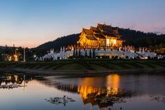 Mroczny wata Kham luang świątynny północny Thailand Ho Zdjęcie Royalty Free