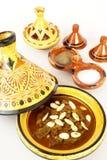 Mrouzia - Moroccan Tagine with Raisins, Almonds an Royalty Free Stock Photography