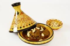 Mrouzia - Tagine marocchino con l'uva passa, mandorle Fotografie Stock