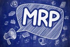 MRP - Doodle Illustration on Blue Chalkboard. Royalty Free Stock Photography