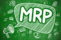 MRP - Hand Drawn Illustration on Green Chalkboard. Stock Images