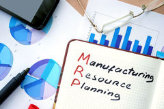 MRP manufacturing resource planning Royalty Free Stock Photo