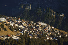 Mürren village from Birg. Switzerland Royalty Free Stock Image
