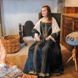 Mrs. Ann Parke, 17th Century. Mrs. Anne (Povey) Parke in her home in Parke's Castle, on the shores of Lough Gill, County Leitrim, Ireland. About 1676/1677. Mrs Stock Photography